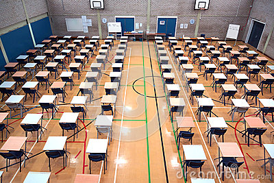 Sports Hall set-up for exams