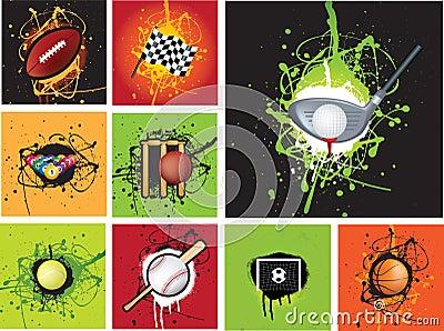 Sports icon grunge