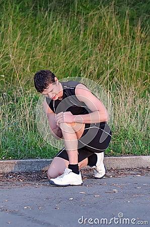 Sports injury concept.