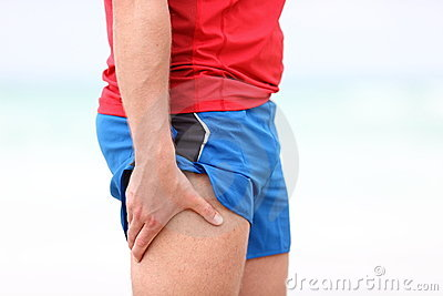 Sports injury - thigh muscle pain