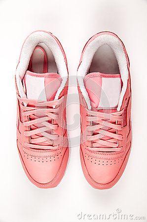 Free Sports Leather Sneakers. Free Style. Classic. Fashion. Pink Royalty Free Stock Image - 90475466