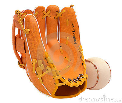 Sports and leisure: baseball glove and ball