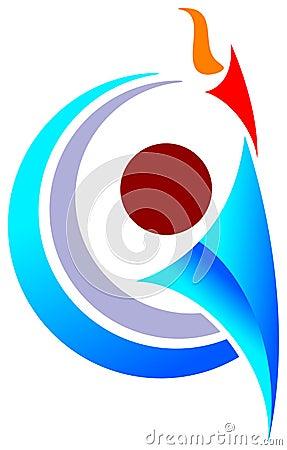 Sports man emblem