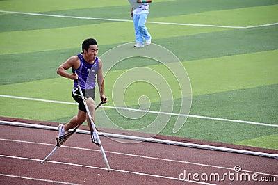 Sports meet,high leg games,Stilt games Editorial Stock Photo