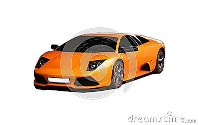 Sports orange car