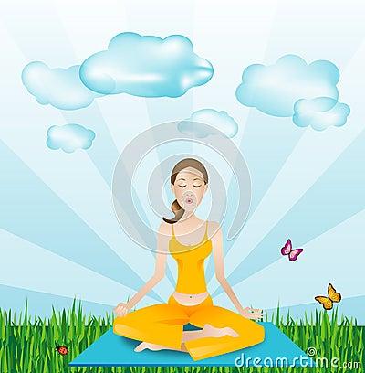 Free Sports Outside - Yoga Girl Stock Photo - 2270590