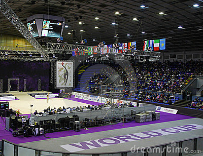 Sports Palace during Deriugina Cup in Kyiv Editorial Stock Photo