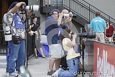Sports photographers Editorial Stock Image