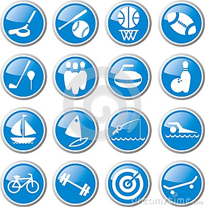 Sports and recreation icon set