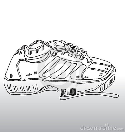 Sports shoe and brush