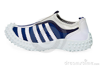 Sports shoe made ​​of cloth with rubber sole