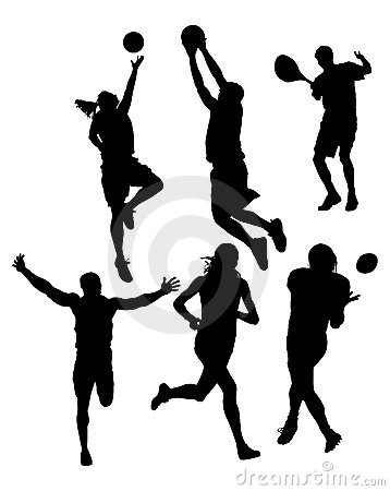 Free Sports Silhouettes Stock Photography - 4406922