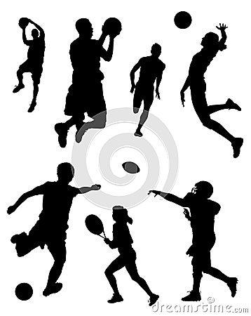 Free Sports Silhouettes Stock Photos - 4406923