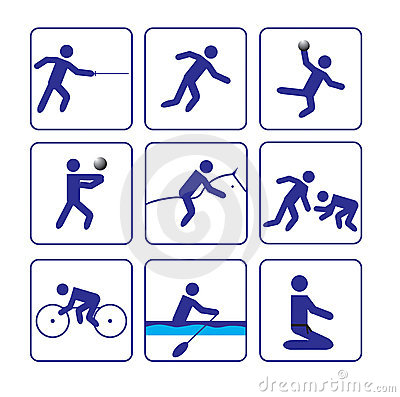 Sports stylize icons set two in vector