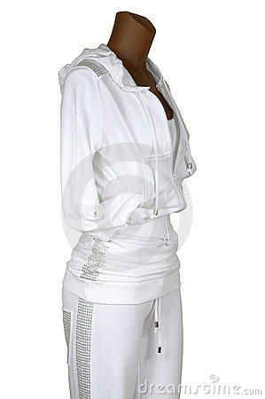 Sports suit with a hood