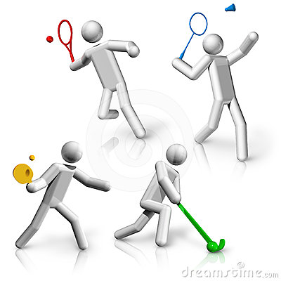 Sports symbols icons series 9