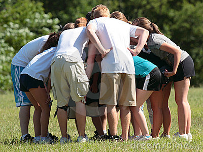 Sports Team Huddle