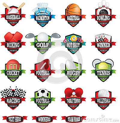 Free Sports Teams Names Badges Or Logos As Shields In Colour Stock Photography - 85949072