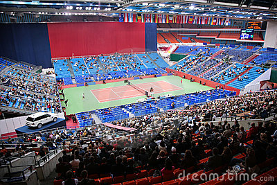 Sports tennis arena with public Editorial Photo