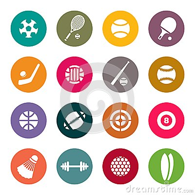 Sports theme icon set