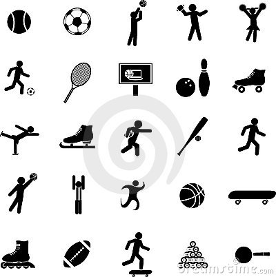 sports vector symbols or icons set