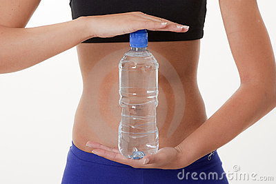 Sports Woman  with water bottle