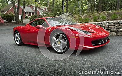 Sportscar Ferrari 458 Redactionele Foto