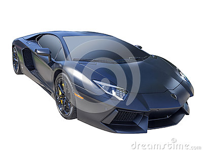 Sportscar, isolated