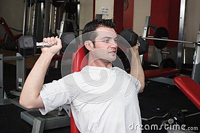 Sportsman at gym 3