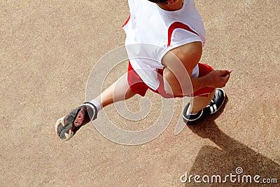 Sportsman jogging