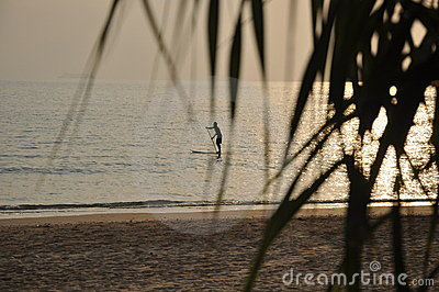 Sportsman on the surf
