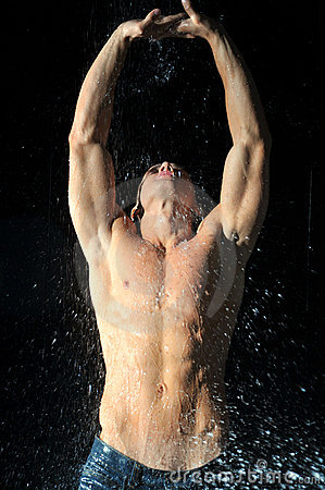 Sportsmen in aqua