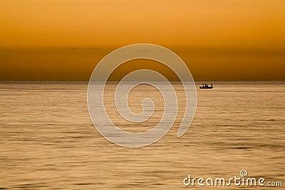 Sportsmen Fishing at Sunset