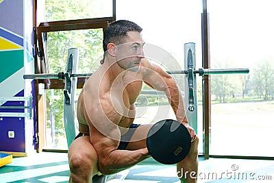 Sportsmen and gym