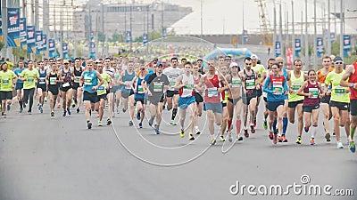 20 May 2018, Kazan, Russia - Kazan Marathon, Sportsmen ...