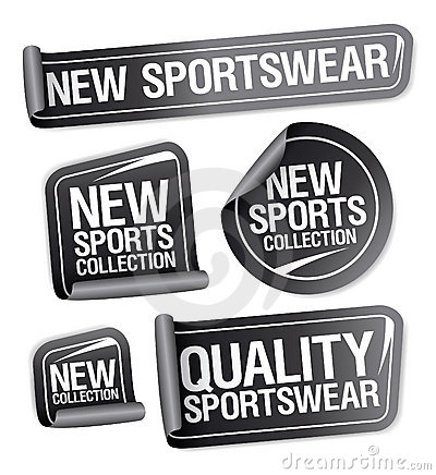Sportswear collection stickers.