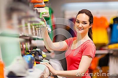 Sportswear shop assistant