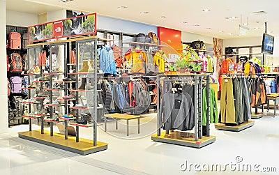 Sportswear store Editorial Stock Photo