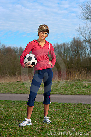 Sportswoman with a Ball