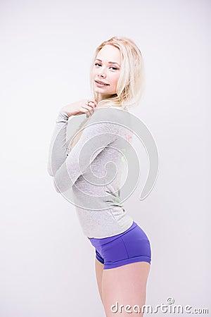 Sporty blond