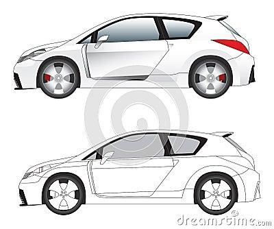 Sporty car illustration vector