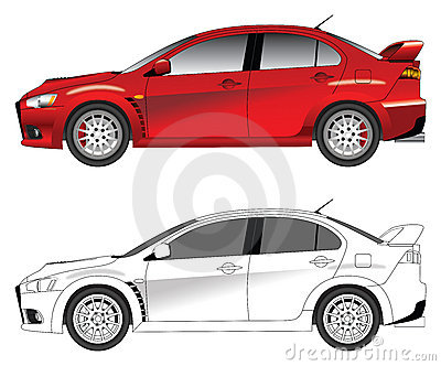 Sporty car vector illustration