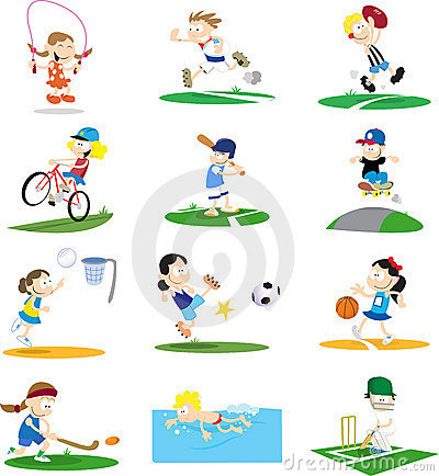 Free Sporty Cartoon Character Assortment Stock Images - 7640174