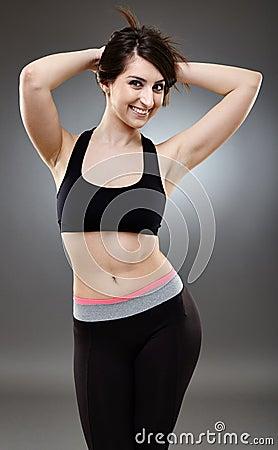 Sporty ethnic woman