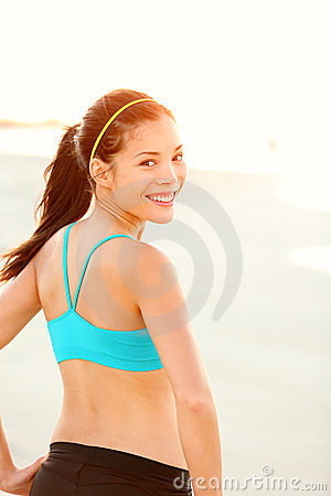 Sporty fitness woman outdoor workout