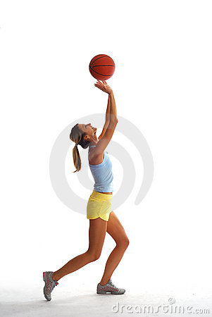 Free Sporty Girl With Basket Ball Royalty Free Stock Photography - 3782627