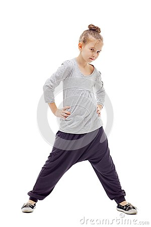 Sporty little girl
