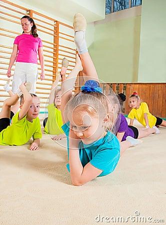 Free Sporty Little Girls Stock Image - 39441141