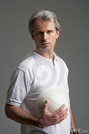Sporty man with a ball