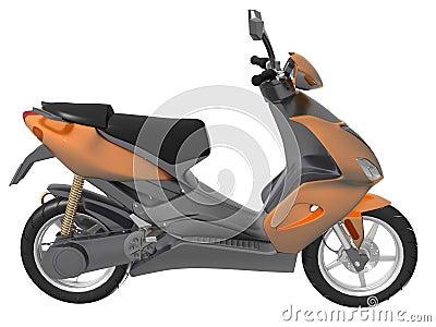Sporty scooter motorbike